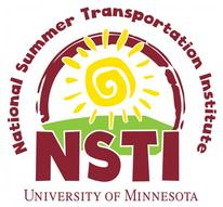 National Summer Transportation Institute logo with words and yellow sun